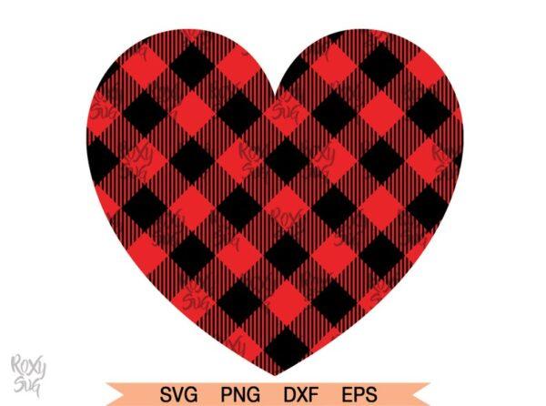 Buffalo Plaid Heart svg