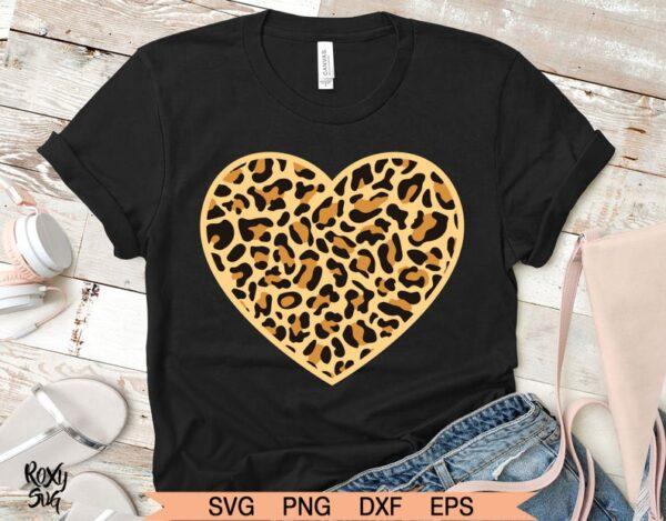 Leopard Heart Svg