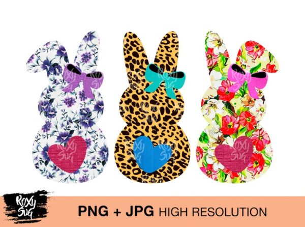 Easter Bunnies Sublimation Designs Download