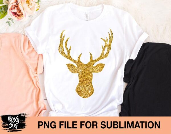 Glitter Deer Silhouette png