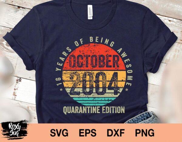 Vintage October 2004 svg