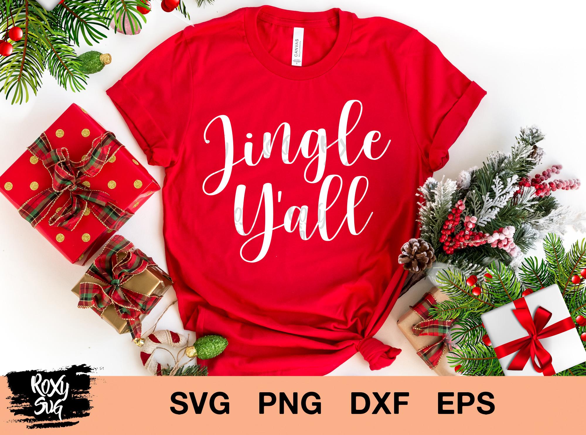 Christmas svg,Jingle Y'all svg
